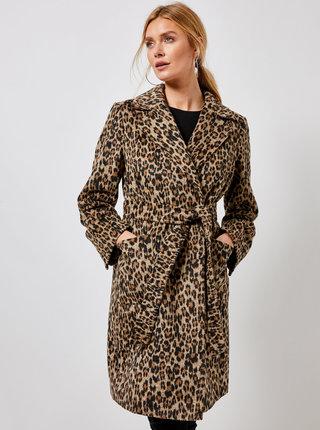 Hnedý kabát s leopardím vzorom Dorothy Perkins