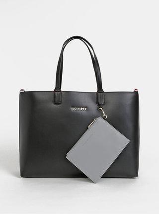 Čierny shopper s odnímateľným púzdrom 2v1 Tommy Hilfiger