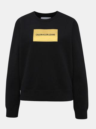 Černá dámská mikina Calvin Klein Jeans Instit