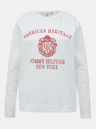 Biele dámske tričko Tommy Hilfiger
