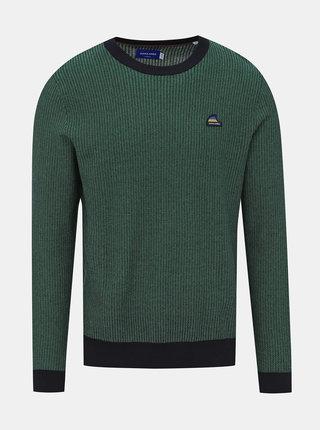 Zelený vzorovaný sveter Jack & Jones Neil