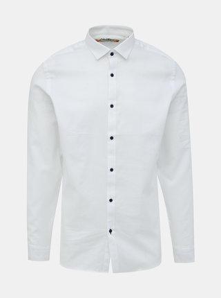 Biela slim fit košeľa Jack & Jones Bla