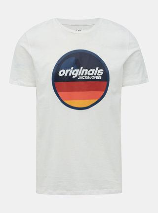 Biele tričko s potlačou Jack & Jones Venture