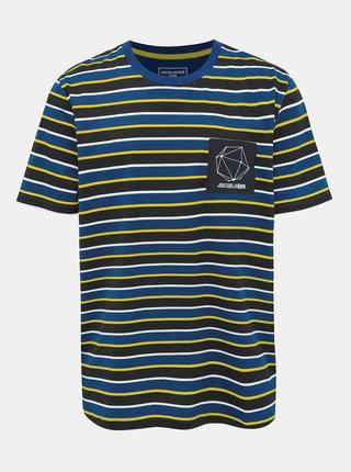 Tmavomodré pruhované tričko Jack & Jones Relief