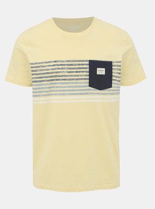 Žlté tričko s potlačou Jack & Jones Langley