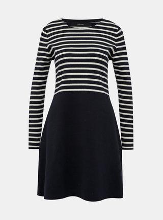Tmavomodré pruhované svetrové šaty VERO MODA Sailor