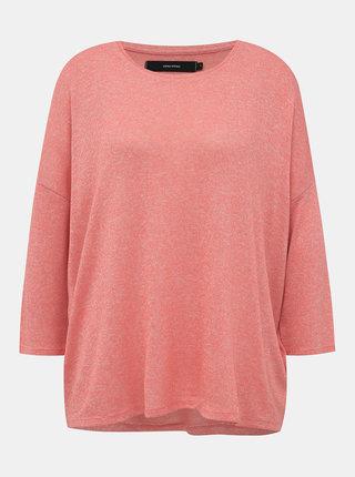 Rúžový ľahký basic sveter VERO MODA Brianna