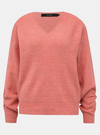 Růžový basic svetr VERO MODA Gata
