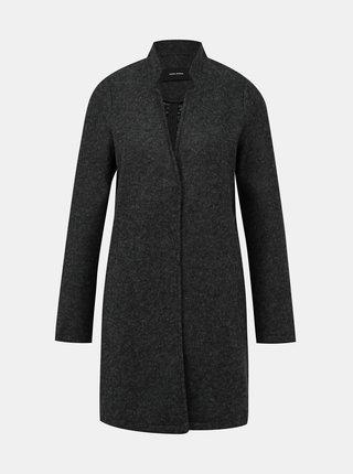 Tmavě šedý lehký kabát VERO MODA Brushedka
