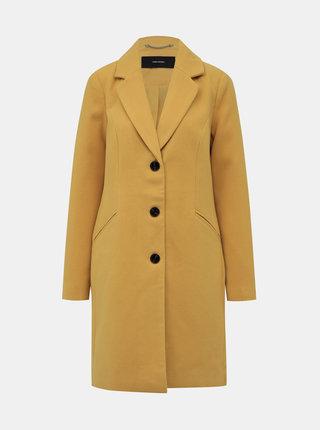 Horčicový kabát VERO MODA Calacindy