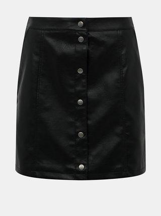 Černá koženková sukně VERO MODA Conneryray