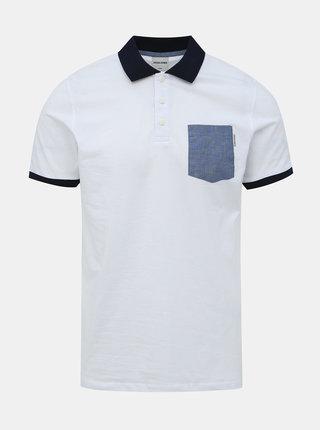 Bílé polo tričko Jack & Jones Texan
