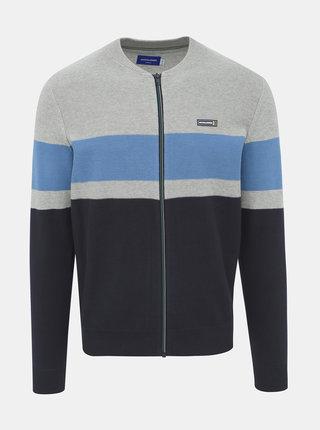 Modro-šedý svetr Jack & Jones Baxtor