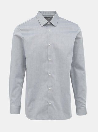 Šedá slim fit košile Jack & Jones Non Iron