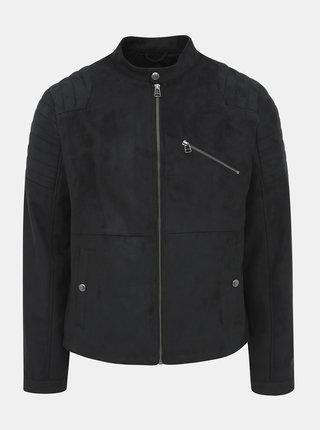 Čierna bunda v semišovej úprave Jack & Jones Rick