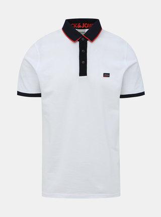 Bílé polo tričko Jack & Jones Charming