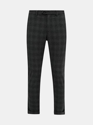 Šedé kockované slim fit nohavice Jack & Jones Marco