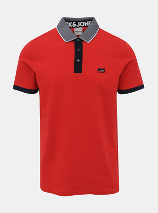 Červené polo tričko Jack & Jones Charming