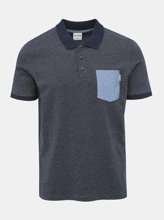 Tmavě modré polo tričko Jack & Jones Texan