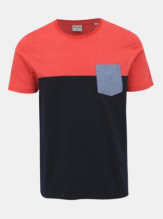 Červeno-modré tričko Jack & Jones Eagle