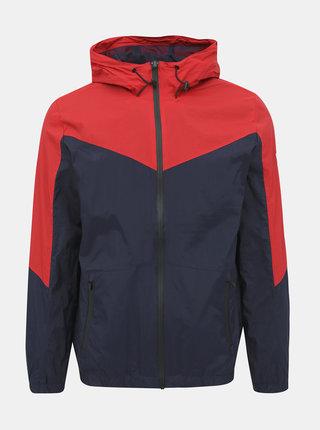 Červeno-modrá bunda Jack & Jones Spring