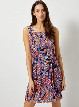 Modro-růžové vzorované šaty Dorothy Perkins
