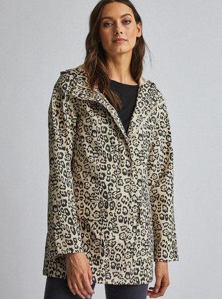 Béžová vodeodolná bunda s leopardím vzorom Dorothy Perkins
