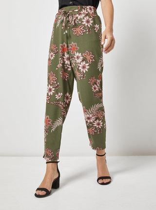 Pantaloni kaki florali Dorothy Perkins Petite