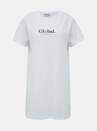 Bílé dlouhé tričko s potiskem Noisy May Zodiac