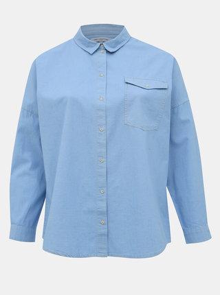 Svetlomodrá rifľová košeľa ONLY CARMAKOMA Mala