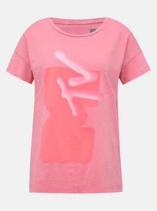Růžové tričko s potiskem Noisy May Licie