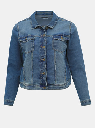 Modrá rifľová bunda ONLY CARMAKOMA Wespa