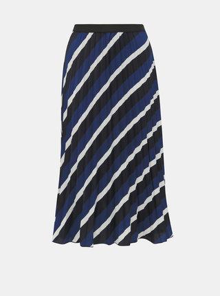 Tmavě modrá pruhovaná plisovaná sukně ONLY Agnes