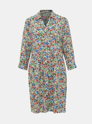 Svetlozelené kvetované košeľové šaty ONLY Floral