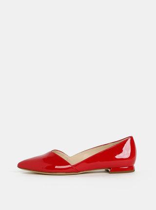 Červené kožené baleríny Högl