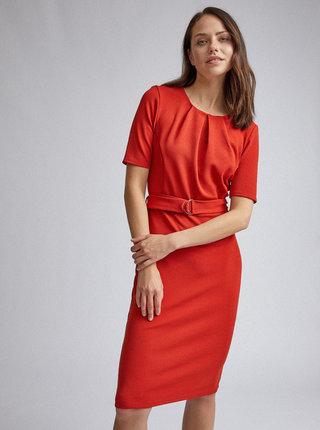 Cihlové pouzdrové šaty Dorothy Perkins