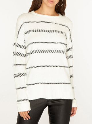 Krémový pruhovaný sveter Dorothy Perkins Tall