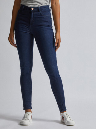 Tmavomodré skinny fit rifle Dorothy Perkins Tall Shape&Lift