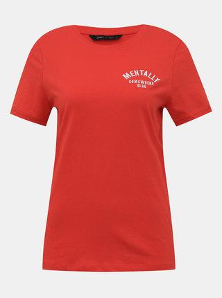 Červené tričko ONLY Laura