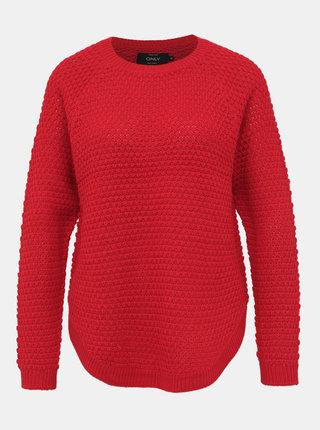 Červený svetr ONLY Violet