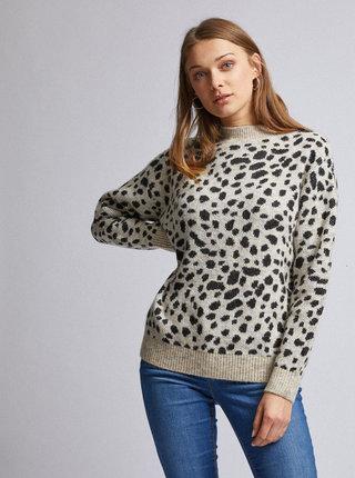 Béžový sveter s gepardím vzorom Dorothy Perkins