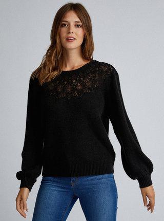 Tmavozelený sveter s krajkou Dorothy Perkins