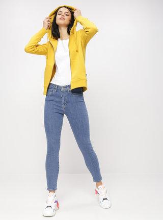 Modré dámské zkrácené skinny fit džíny Levi's® 721