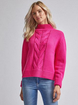 Neonově růžový svetr Dorothy Perkins