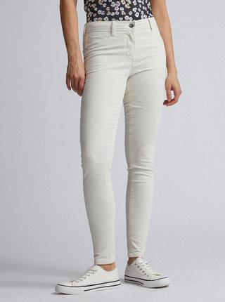 Krémové manšestrové kalhoty Dorothy Perkins