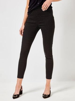 Černé puntíkované kalhoty Dorothy Perkins