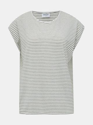 Krémové pruhované basic tričko VERO MODA AWARE Ava