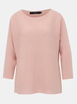 Světle růžový basic svetr VERO MODA Nora
