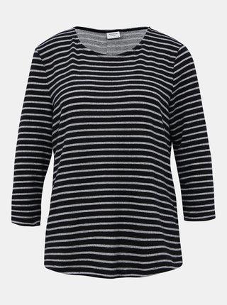 Tmavomodrý pruhovaný basic sveter Jacqueline de Yong Elin