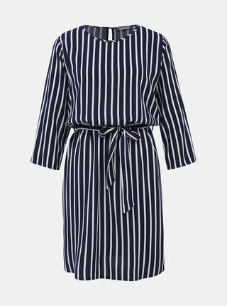 Tmavě modré pruhované šaty Jacqueline de Yong Leaf
